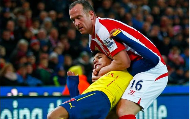 Charlie Adam chokehold Alexis Sanchez