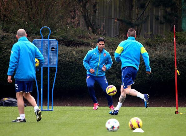 arteta debuchy training