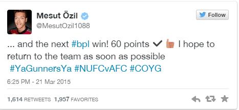ozil tweet