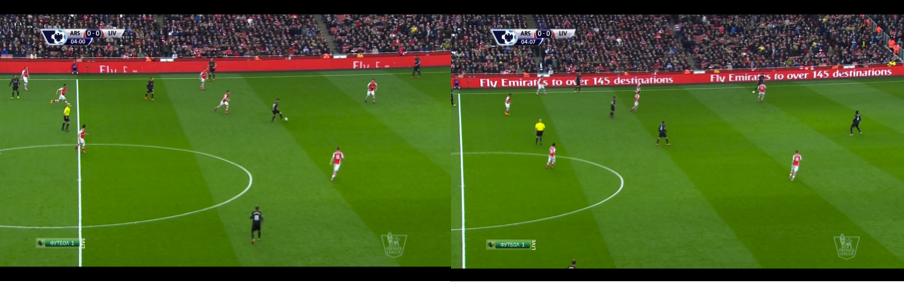 Arsenal forced Allen, and then Can, to play risky backwards passes. Eventually the ball was stolen from Kolo Touré.