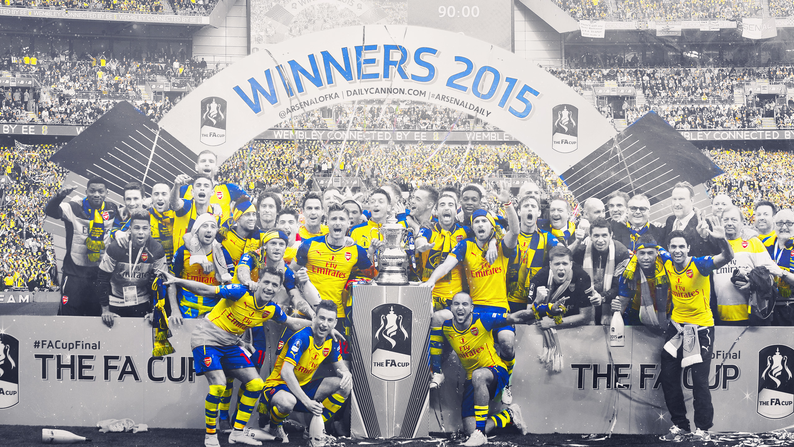 Exclusive Arsenal 2015 FA Cup Winners Wallpaper, Header