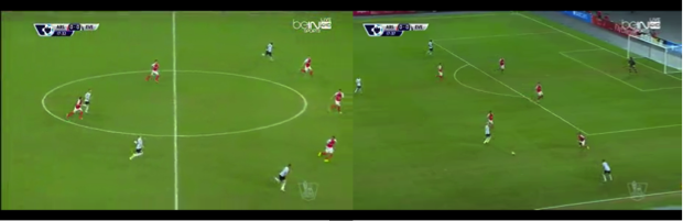 Arsenal nullify a dangerous counter by retreating into a low block.
