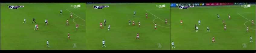 Cazorla's close control and ability with both feet see him create space and get out of trouble.