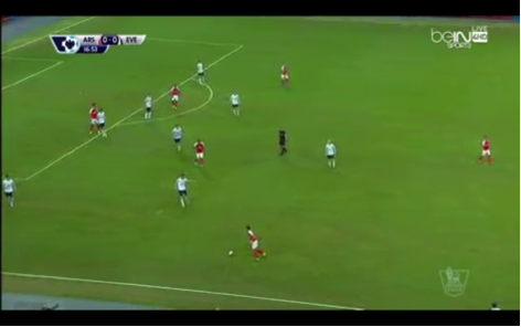 Cazorla (furthest right) stayed deep and provided a passing option to teammates.